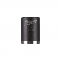 """MILWAUKEE Průmyslové hlavice Shockwave 1/2"""" HEX 19mm krátké 4932478044"""