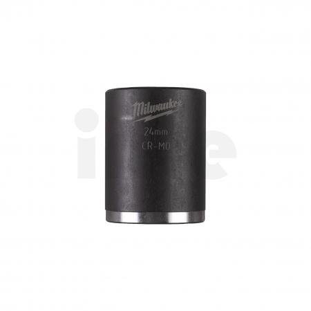 """MILWAUKEE Průmyslové hlavice Shockwave 1/2"""" HEX 24mm krátké 4932478047"""