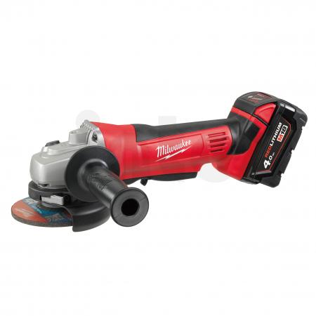 MILWAUKEE HD18AG115-402C - M18™ 115 mm úhlová bruska s kolébkovým spínačem 4933441300