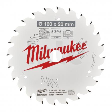 MILWAUKEE Pilový kotouč dřevo 160X20X2.2X24ATB 4932471290