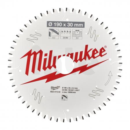 MILWAUKEE Pilový kotouč hliník 190X30X2.4X54TF NEG. 4932471303