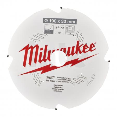 MILWAUKEE Pilový kotouč vláknitý cement 190X30X1.8X4D 4932471304