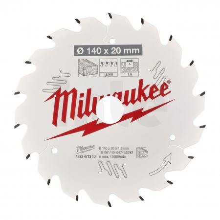MILWAUKEE Pilový kotouč dřevo 140X20X1.6X18ATB 4932471310