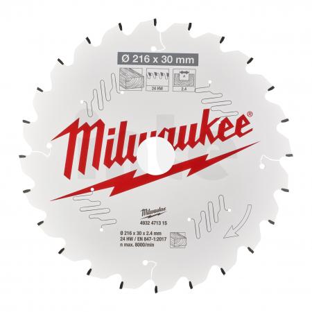 MILWAUKEE Pilový kotouč dřevo 216X30X2.4X24ATB NEG. 4932471315
