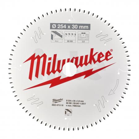 MILWAUKEE Pilový kotouč hliník 254X30X3.0X80TF NEG. 4932471318