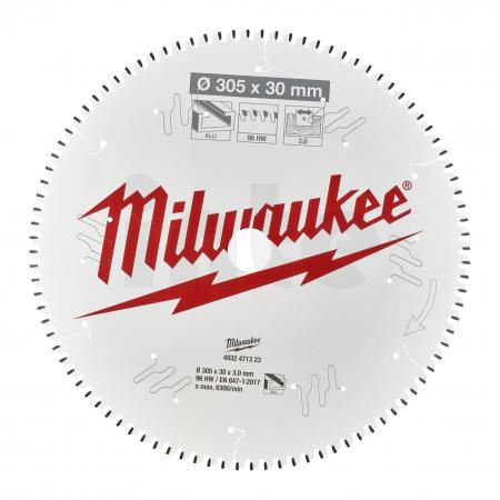 MILWAUKEE Pilový kotouč hliník 305X30X3.0X96TF NEG. 4932471323