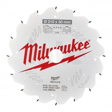 MILWAUKEE Pilový kotouč dřevo 210X30X2.4X16ATB 4932471324